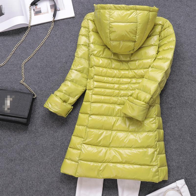 7XL Kadın Packable Aşağı Coat Hafif Artı boyutu Puffer Ceket Kapşonlu İnce Doğa Sporları Seyahat Parka Kabanlar 201.016 Isınma