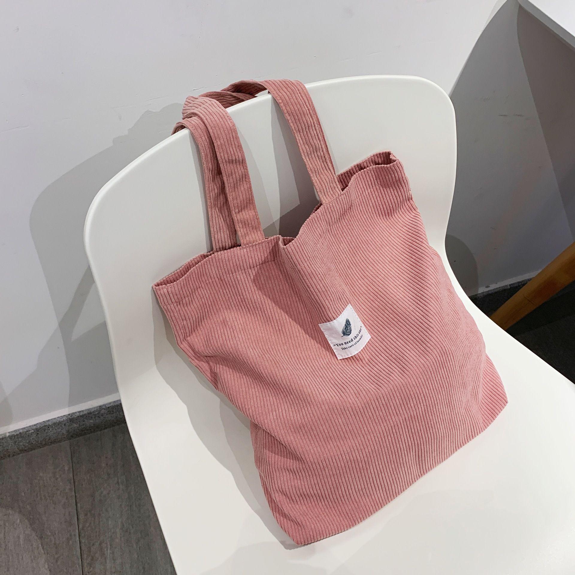 Сумки HBP для женщин 2021 CORDUROY Сумка на плечо Многоразовые сумочки повседневной сумки повседневные