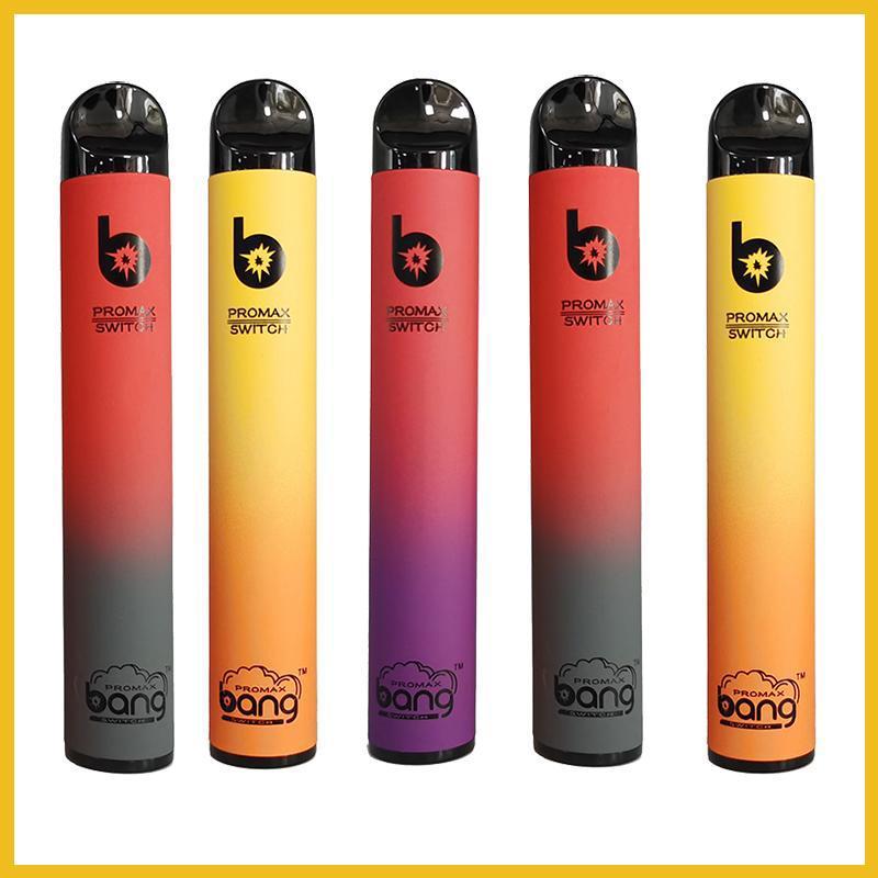 Bang Pro Max Switch Dispositivo desechable Vape 2 en 1 Pods 2000puffs Cigarette XXL 1100mAH batería xxtra doble pluma