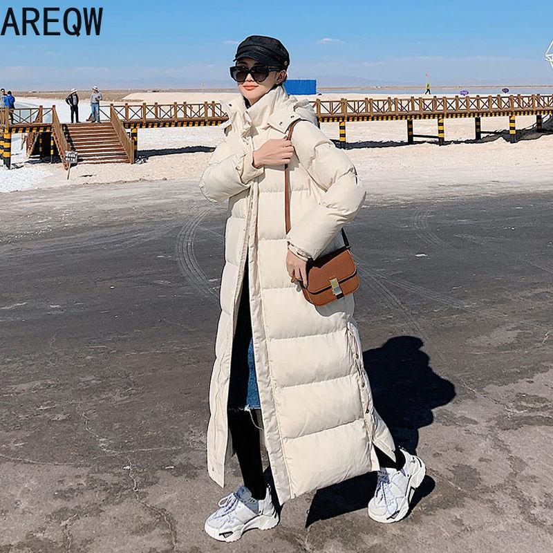 Женщины Пальто и ветровка Осень Зима Long X-Long ветровка высокого качество Бежевая с капюшоном Тонких зим курток Womens 201017