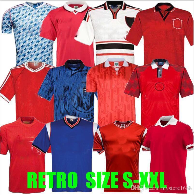 1994 1995 1996 Retro Jersey Jersey United 94 95 96 99 Man Butt Giggs Utd Ronaldo Beckham Solskjaer Cantona Manchester Football Shirts