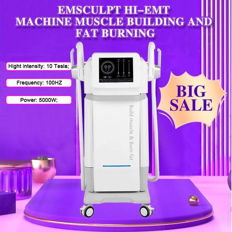 2021 Hiemt Sculpting Emslim Hi-EMT Machine EMS Мышечный стимулятор Электромагнитный жир Горящий формирование красоты Оборудование для красоты Бесплатный логотип