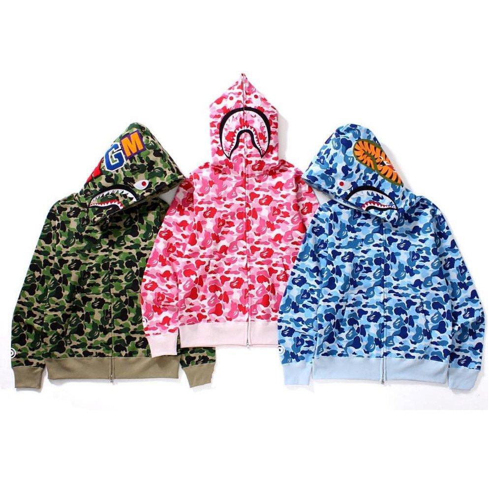 Moda multicolor clássico europeu e americano manga comprida hoodie outono jaqueta de inverno homens e mulheres casal camuflage hoodie