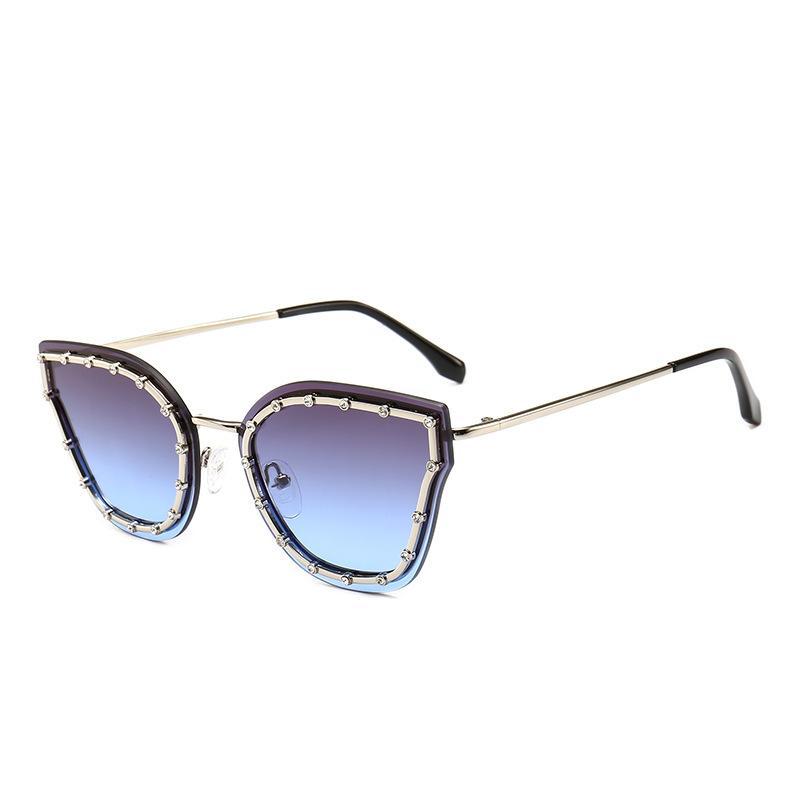Diamond Cat Eye Солнцезащитные очки Новые Модные Моды Мода Роскошные Ретро Классические Дизайнерские Стильные Солнцезащитные очки Для Женщин Девушки Женские Шика