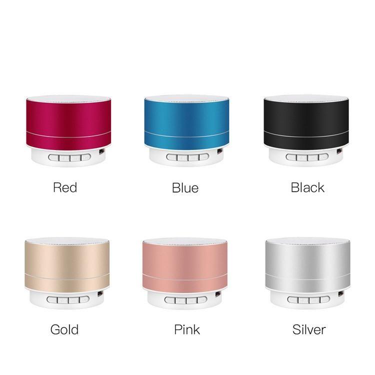 A10 Speaker Bluetooth sem fio de metal Mini Som Portátil Com Radio Mic TF FM AUX MP3 Audio Player com Retail