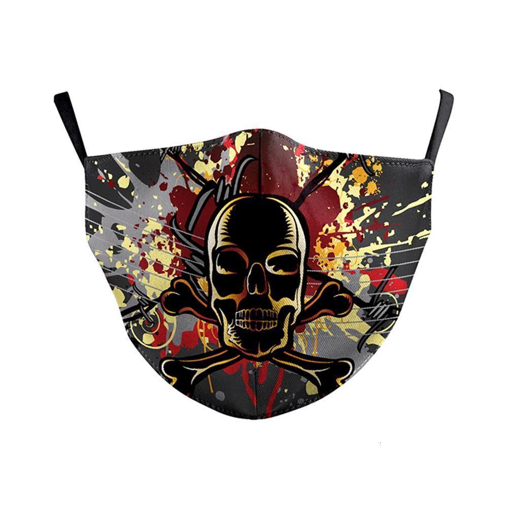 Aztec Цветочной маска череп Printed лицо Маска Ткань для взрослых Защитной PM 2,5 Пыль Mouth крышка Wash N7YK