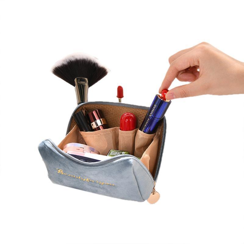 Tasche Kupplungsbeutel Reißverschluss Stickerei Kosmetische Kapazität Multifunktions Hohe englische Glatte Lagerung Flanell LJMQJ