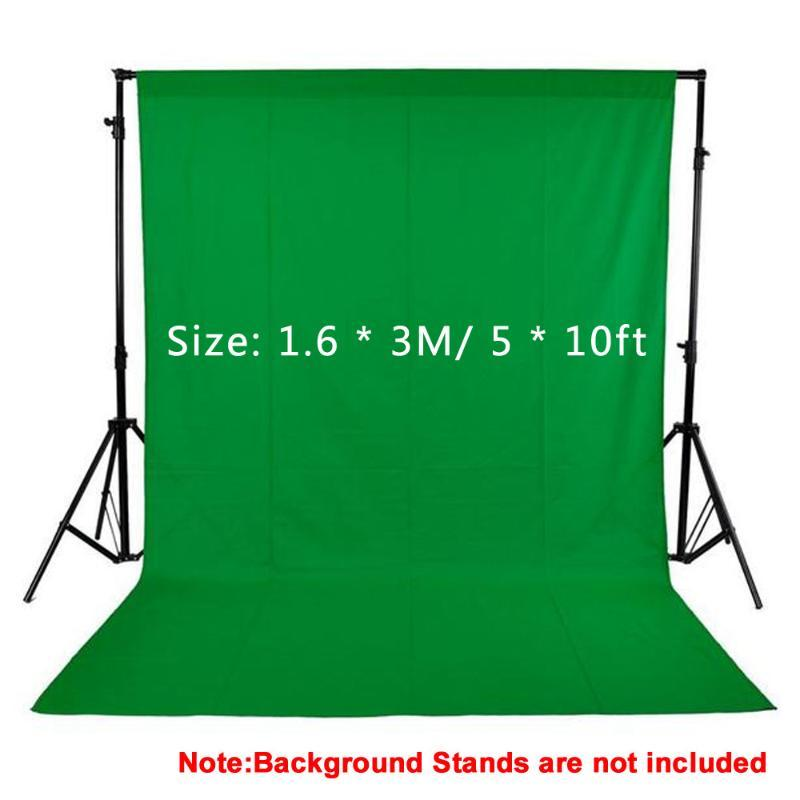 1.6x3M / 5x10FT Studio Fotografie Kulissen Black White Green Screen Foto Background 100% Non-Woven für Studio Vedio Shooting