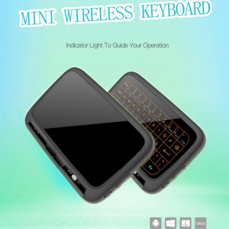Hintergrundbeleuchtung Air Mouse Tastaturen Voll Touchpad Version nachladbare drahtlose Tastatur für Smart TV Android Box PC-Fernbedienung