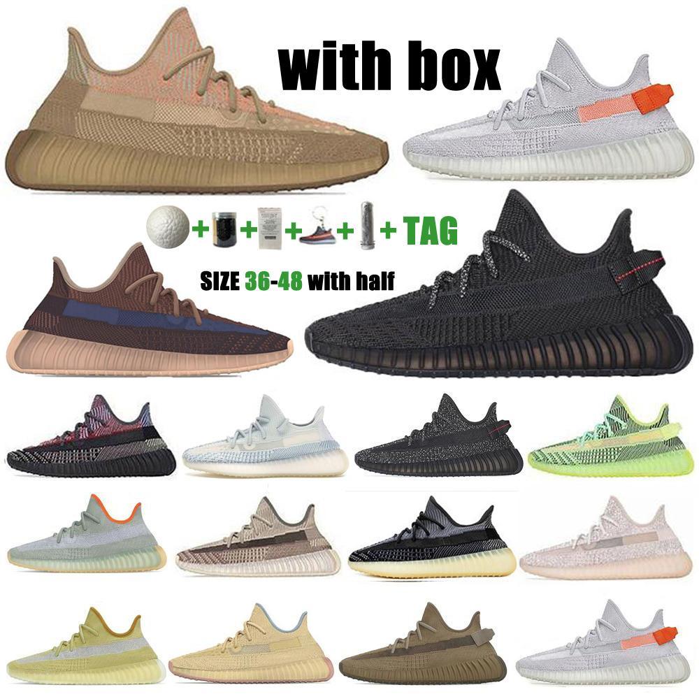 Top Quality Kanye West V2 Uomini Donne Scarpe da corsa Abez Asriel Israfil Light Light Cinder Riflettente Nero Nero Street Sneakers Sneakers Size36-48 Hal