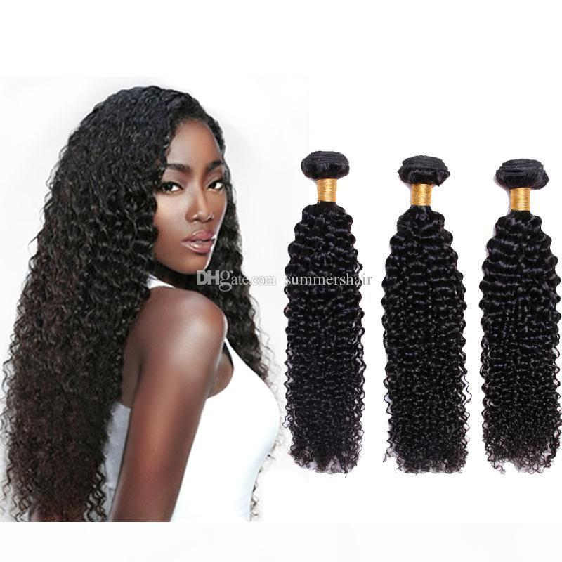 العذراء البرازيلي مجعد الشعر نسج حزم 8A 100٪ غير المجهزة البرازيلي غريب مجعد الشعر نسج حزم اللون الطبيعي