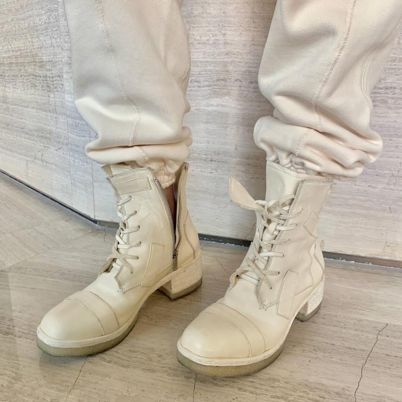 Сапоги женские лодыжки кружевные пустынные тактические натуральные кожи густые высокие каблуки женщин круглый носок мотоциклов