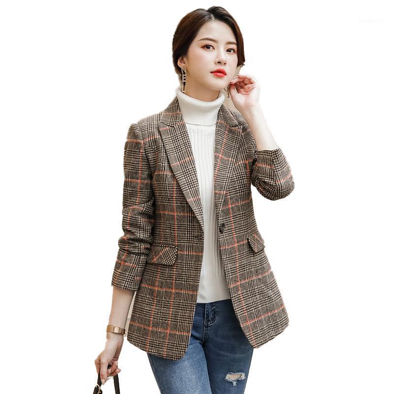 Женские костюмы Blazers Женская элегантная формальная офисная работа одежда 2021 мода Blazer женщин верхняя одежда куртки женские одежды стили одежды вскользь