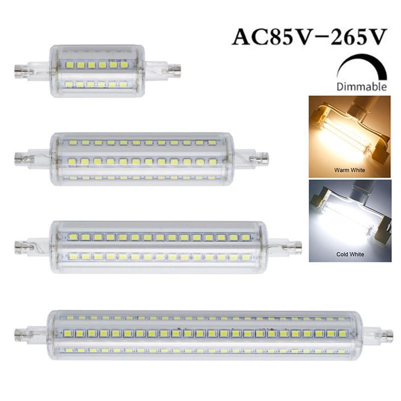 R7S Işıklar AC85V-265V 78mm 118mm 135mm 189 mM smd2835 Dim ampuller led Beyaz Sıcak Beyaz Işık Halojen Projektör Değiştirme
