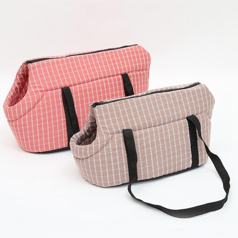 Dog Carrier Latticed Dog Backpack Cozy & Soft Puppy Cat Bags Outdoor Hiking Travel Puppy Bag Shoulder Carrier