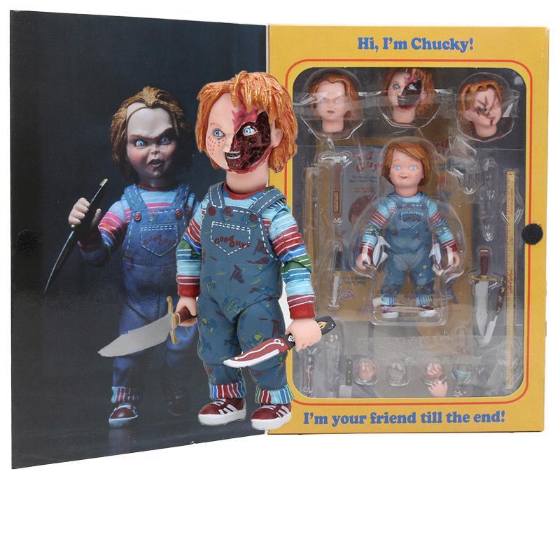 Neca Korkunç Chucky Şekil Oyuncak Korku Filmleri Chucky 1/10 Ölçekli Korku Doll oyuncak 1008'in Çocuk Oyunu Gelin