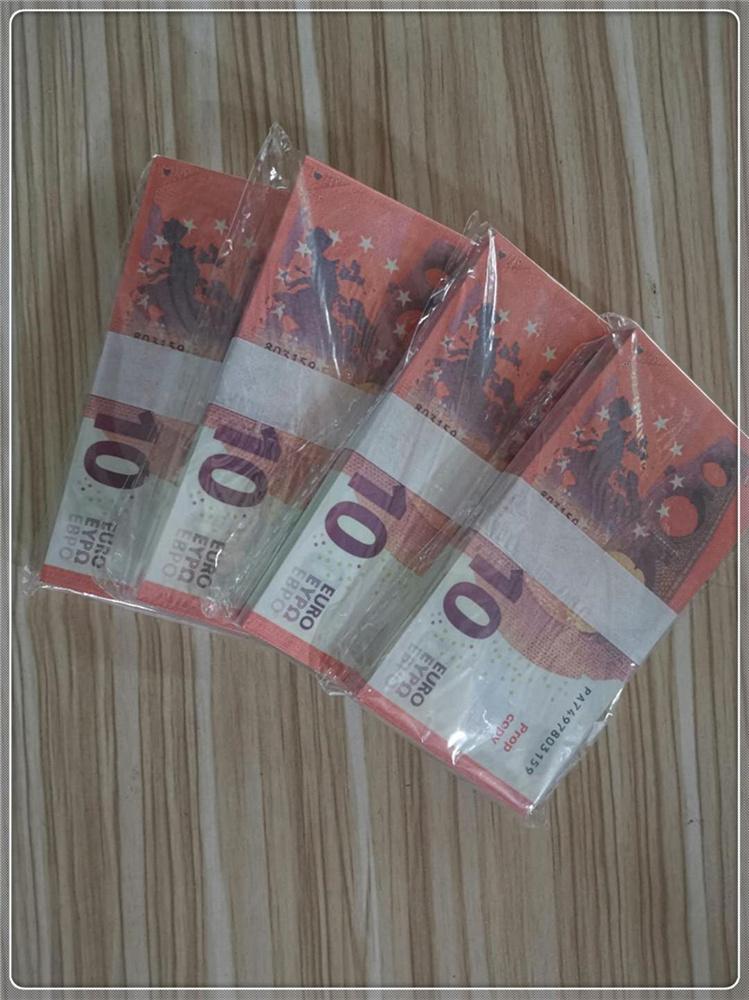 Requisite-Banknote gefälschte Euro 10 bar Atmosphäre Bühne Party Prop Geld Gefälschungsspielzeug Gefälligkeit LE10-2