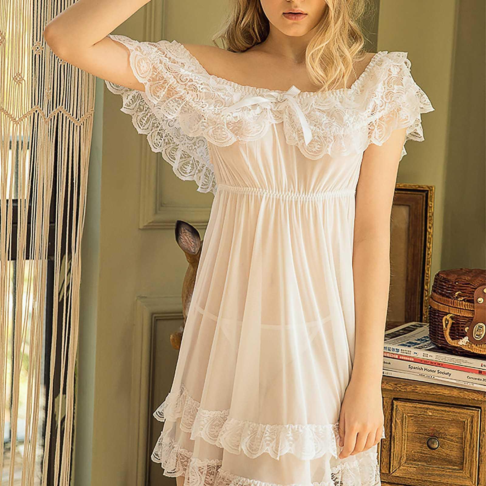 Sexy mini lingerie de noite com tanga cor sólida cor valentine dia curva decoração de laço fora do ombro curto pijama 7xl plus size