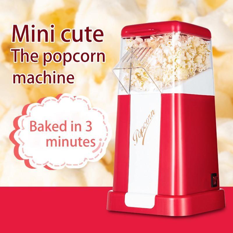 Электрический горячий воздух Popcorn машин с верхней крышкой Бытовой Popcorn Maker машина Corn Вкусной закуска для семьи детей