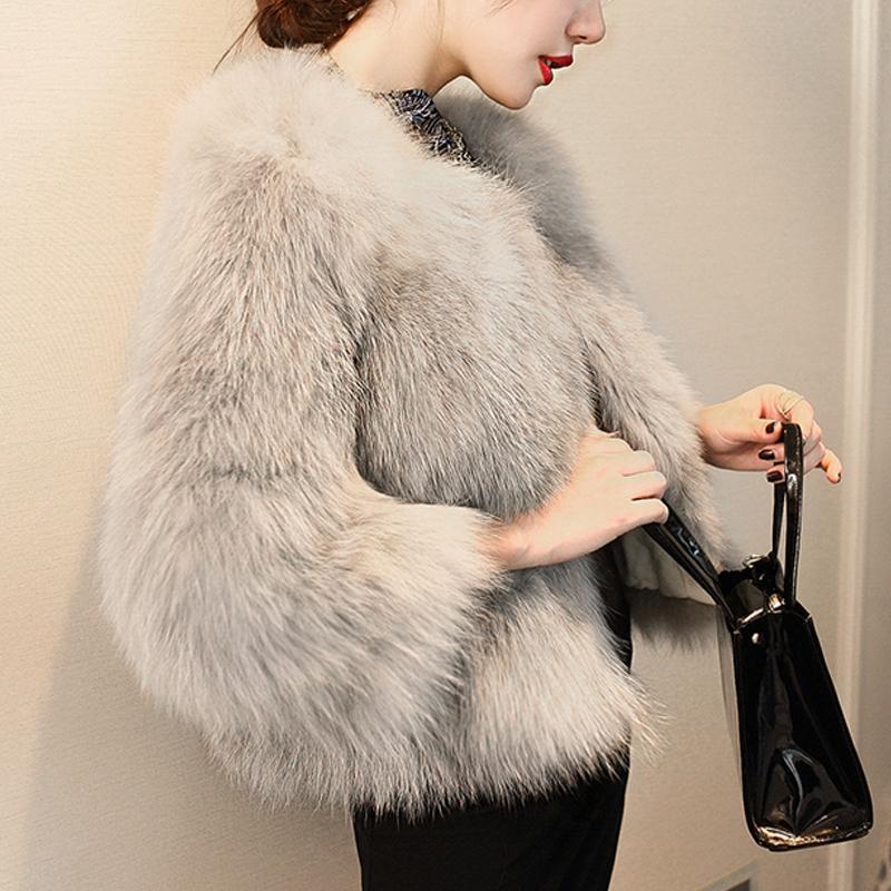 Mulheres Faux Faux Women Outono Casaco de Inverno Casaco Senhoras Morma Longa Molha Outerwear Engrossar Casacos Casacos Feminino Moda Streetwear Cardigans