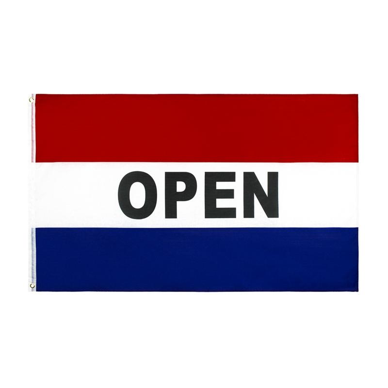 90x150cm Business Open Flags Advertising Mark Flags 5x3 FT Flying Hanging Polyester Banner Hot Sell HHA1711