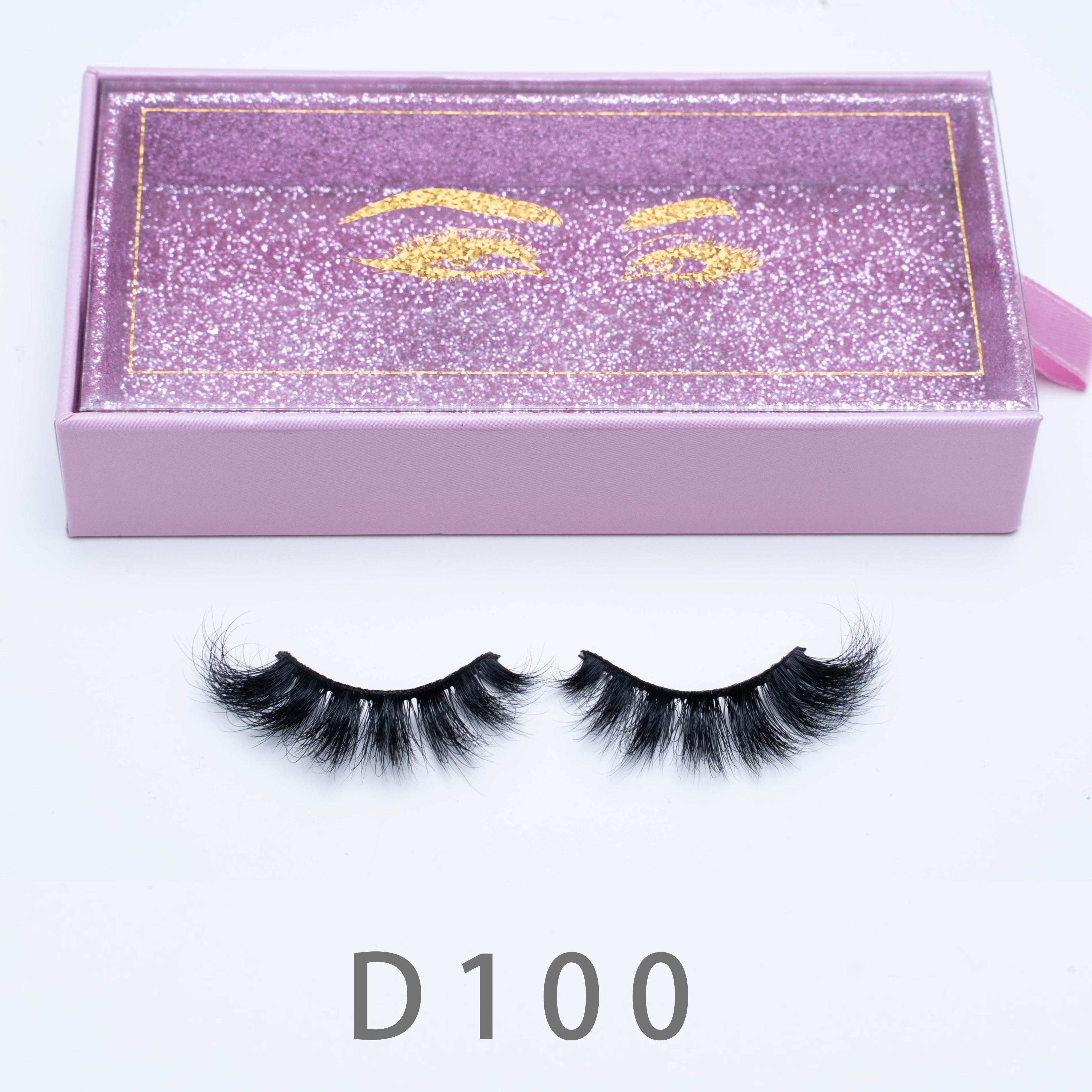 [Mink falsche Wimpern-D100] Weiche natürliche dicke falsche Wimpern 3D Eye Wimpern-Verlängerung Beauty Tools Custom Packaging