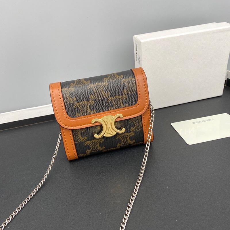 Top Quality Women Designer bag Leather Crossbody bag Luxurys Triomphe Canvas Handbags Lady wallets card bags 100% Calfskin with box