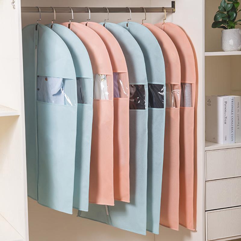 Ящики для хранения Bins Висит пылезащитный костюм Сумки для путешествий с чистым окном Куртка Уборка Юбка Рубашка Шубашка Anti-Moth Дышащая одежда