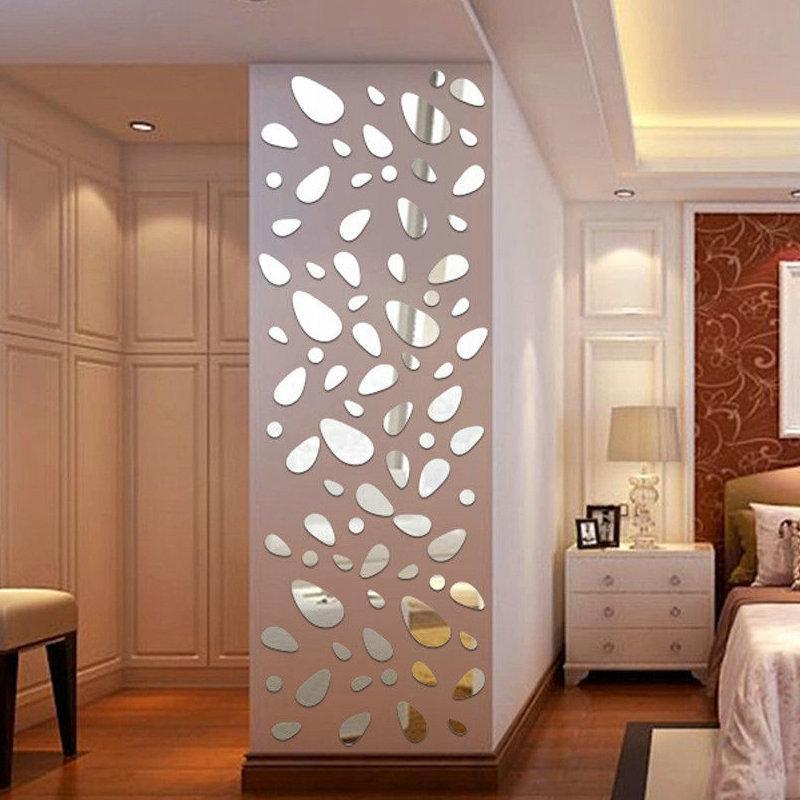 القابل للإزالة الاكريليك مرآة وضع الجدار ملصق لصائق غرفة النوم الرئيسية غرفة المعيشة ديكور TV خلفية 3D مرآة ملصقات الحائط DIY ديكور الغرفة