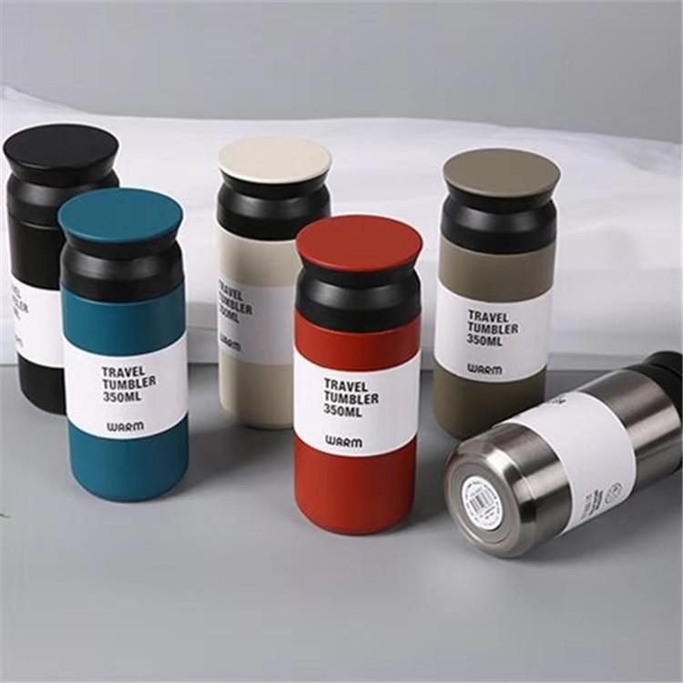 350ml Kreative thermisch Tasse Auto Tassen Edelstahl Tumbler Becher Vakuumisolierte Reise Becher Metall Wasserflasche
