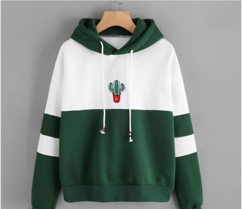 Frauen langarm Pullover mit Kapuze Kaktus gedruckt Sweatshirt Casual Winter Hoody Hoodies Sweatshirt für Frauen plus Größe S bis XXL