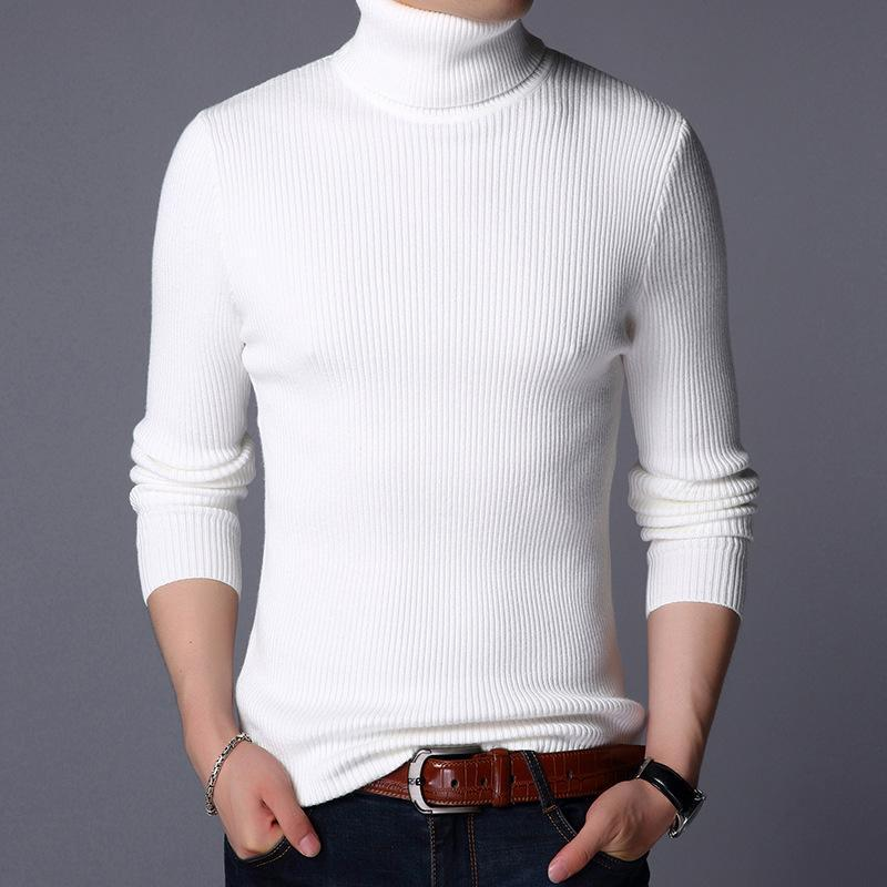 Suéter dos homens inverno espessado gordura camisola de lazer quente
