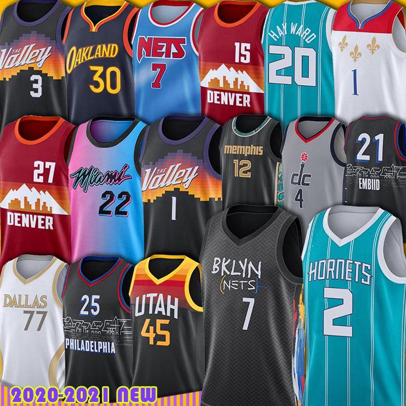 Devin Nikola Booker Jokic Stephen 30 Curry Wiseman Basketball Jersey Jamal Kevin Murray Durant Luka Donovan Doncic Mitchell Anthony Jerse