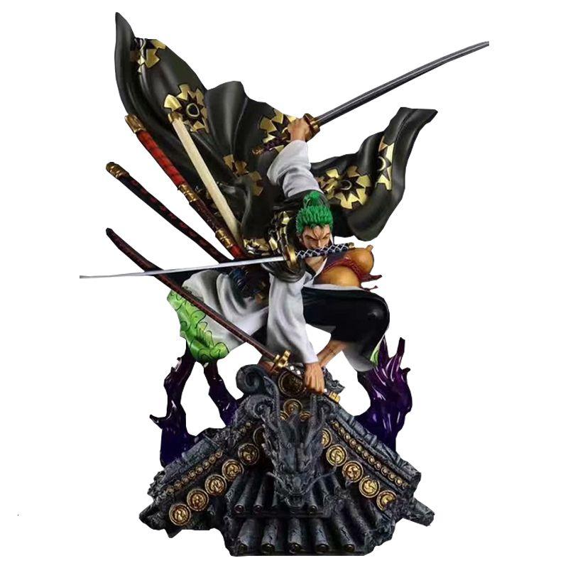 Eine stück figure gk kimono roronoa zoro pvc modell anime sammlung spielzeug über größe koexquisite qualität desktop dekoration 201202