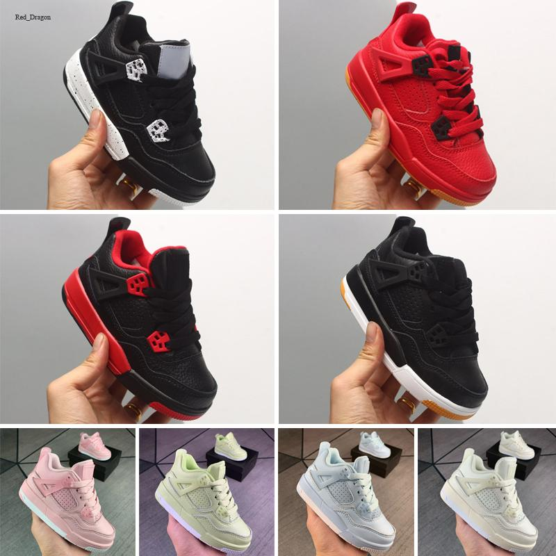 Zapatos de alta calidad 4 niños zapatos de baloncesto niños zapatos deportivos al aire libre gimnasio rojo chicago chicas 4s zapatillas deportivas