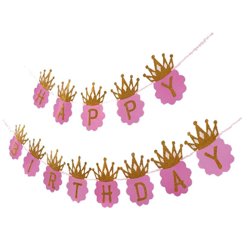 عيد ميلاد سحب العلم حزب خلفية تزيين المقالات راية الذهبي إلكتروني تاج الملونة هدفين بيع 3 5SH P1
