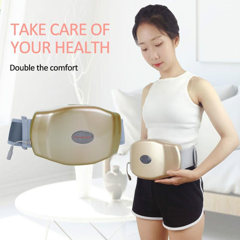 Electric Vibrating Massager Waist Trimmer Slimming Heating Belt with Weight Loss Burning Fat on Belly Abdomen Full BodyRabin