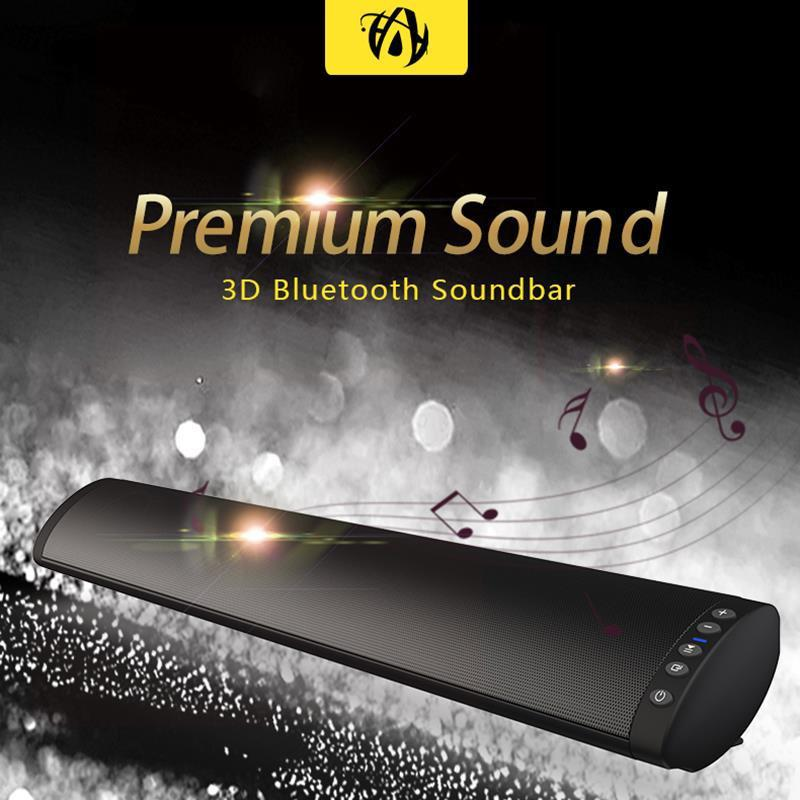 Soundbar Bluetooth 5.0 fm Speaker wireless 20W Home Theater Column Surround Sound System Stereo Barra a muro