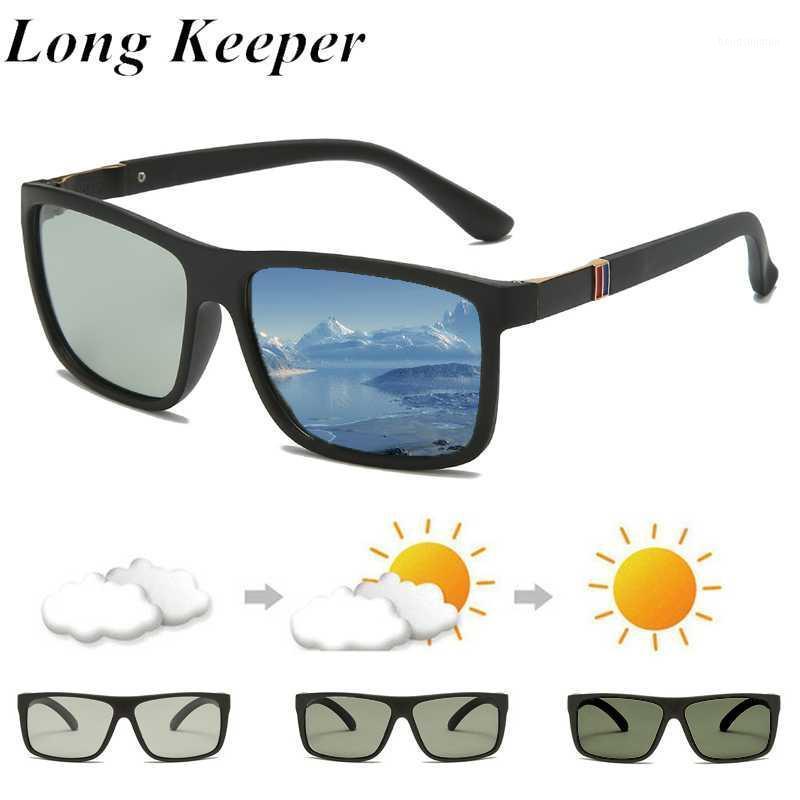 Солнцезащитные очки Classic Pochromic Polarized Мужчины Женщины Прямоугольные Очки Хамелеон Мужские Изменить Цвет Солнечный Водитель Eyewear1