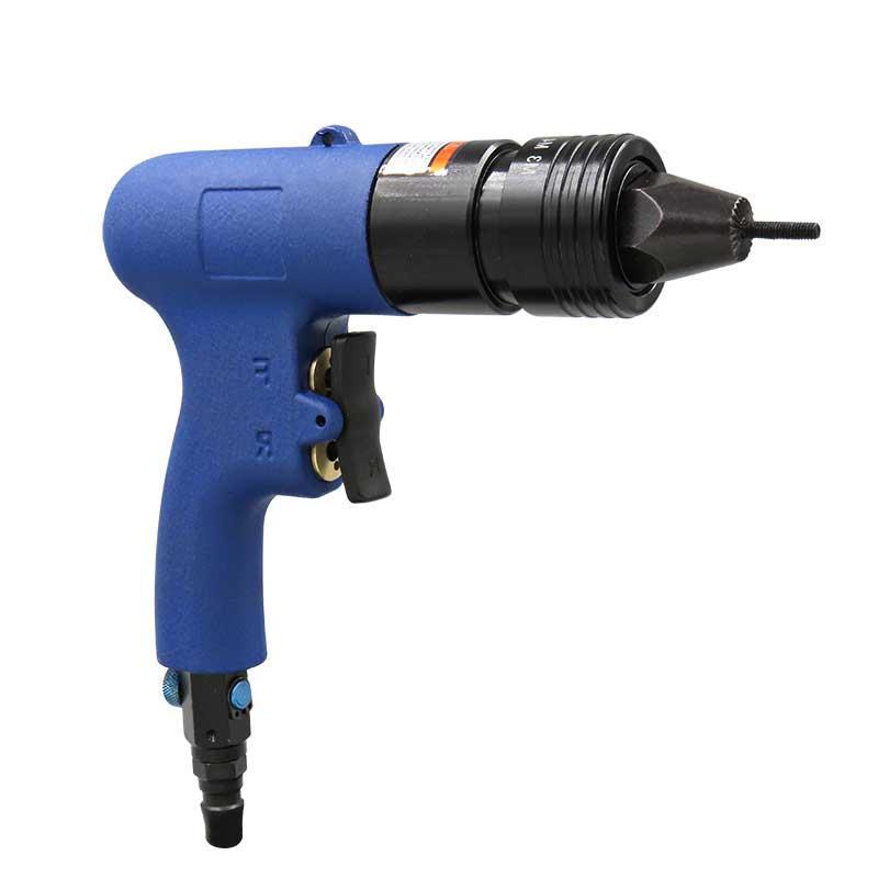 M3M4 écrou pistolet à rivet aveugle pneumatique pistolet de qualité industrielle traction pneumatique plafonnée pistolet femme outil de réparation auto bleu