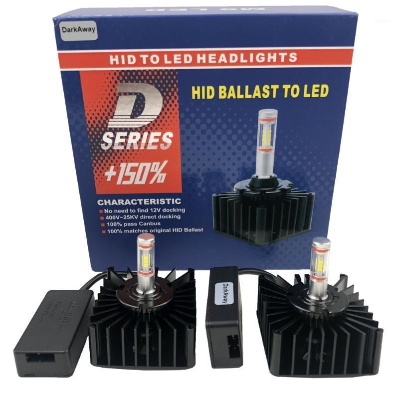 Darkaway D1S LED D2R D3S D4S D5S D8S Bulb Direct Connect to Hid Ballast Reemplace 12V 35W Bulbo original Plug Play CANBUS 6500K1