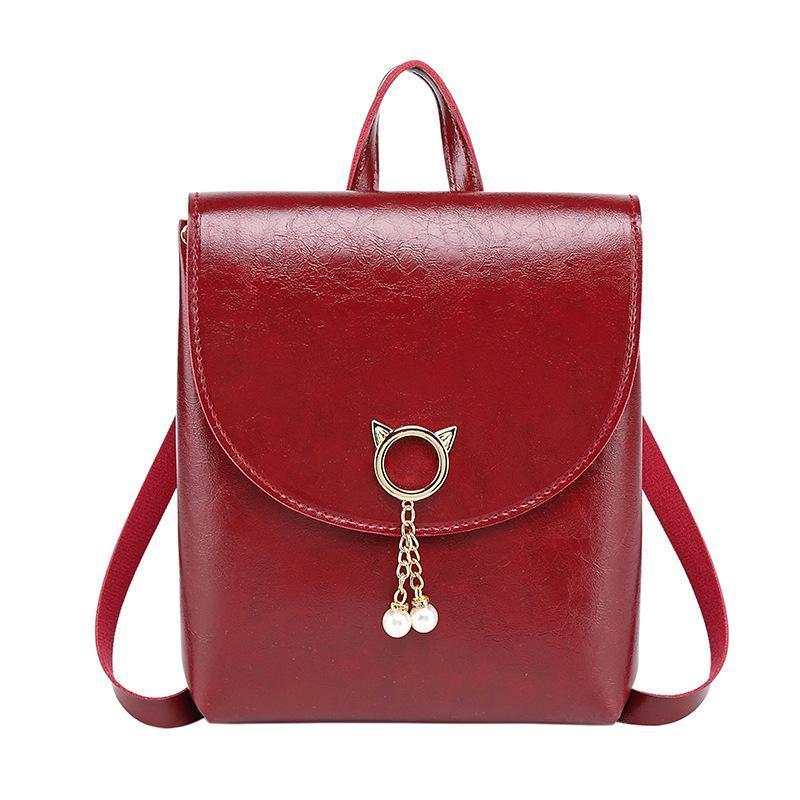 2021 Fashion Women Style Multi-Function Shoulder Small Versatile College Leather Messenger Crossbody Phone Handbag Bag Vkasx