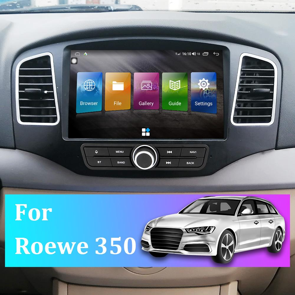 For Roewe 350 Car GPS Navigator Android 10 Latest Map Sat NavCar Navigation FM Radio Truck Audio Video Player MP5