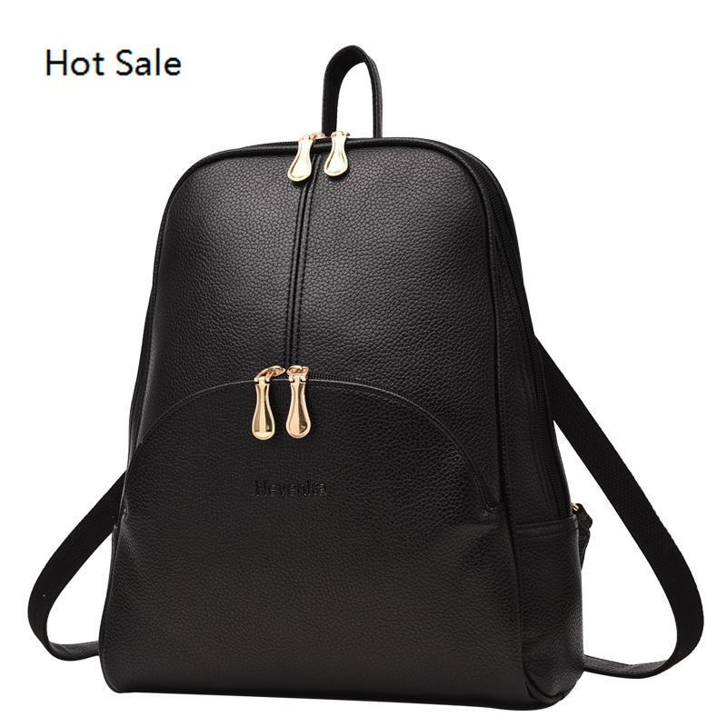 Mulheres Mochila de couro Mochilas Softback Bolsas Estilo Preppy Bag Casual Mochilas adolescentes Backpack
