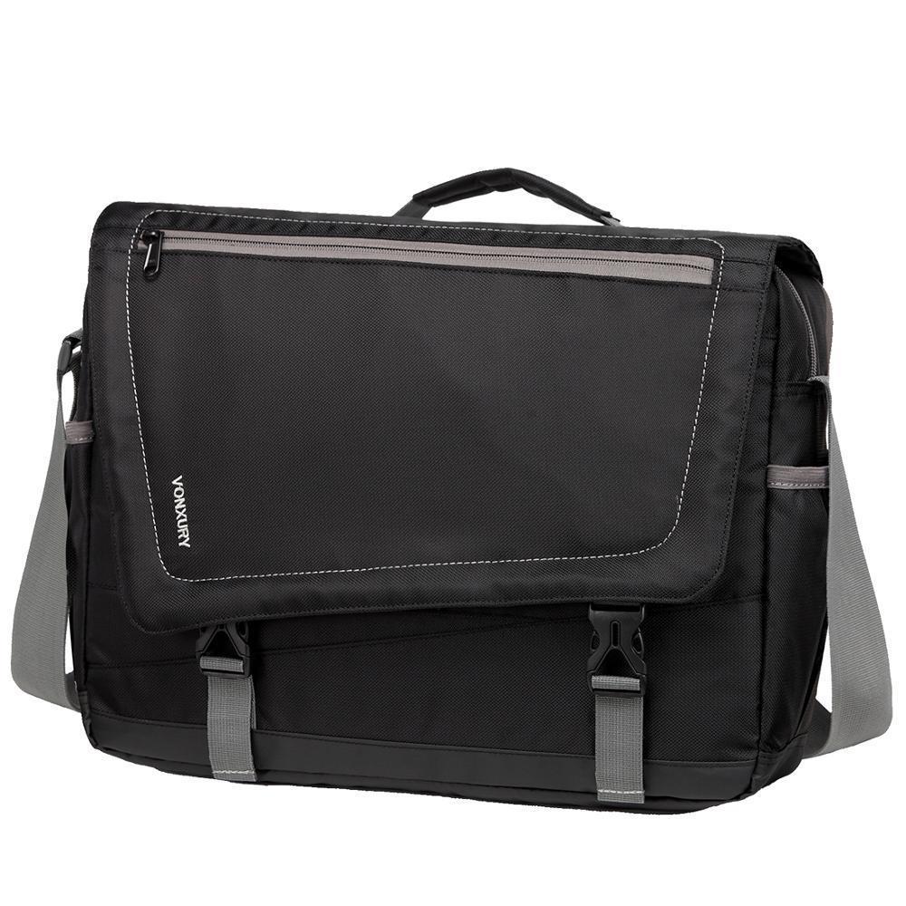 HBP Lightweight Messenger for Men Fit 15.6 Inch Laptop Water Resistant Casual Shoulder Bag School Business Office Crossbody Q0112