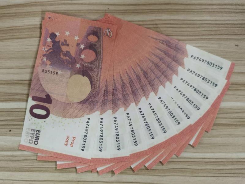 10 Simulation 10 Euro PROP EURO SIMULATION Münze Spielzeug Banknote Heißer Verkauf Hot-Selling Geld Spielzeug Münze Film- und Fernsehserscheinungs-Requisiten TMCQ