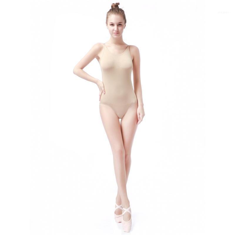 Stage Wear Girls Dance Ballet Camisole Leotard Women Nude Gymnastics Tank Dancewear Costume Kids Dress1