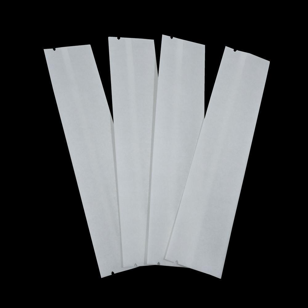 300 adetgrup Açık Üst Beyaz Kraft Kağıt Kahve Ambalaj Torbaları Isı Mühürlenebilir Toz Aperatif Depolama Kılıfı Retails Düz Vakum Ambalaj H SQCBDT