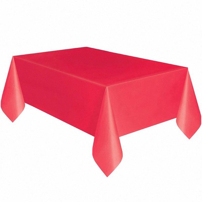 Desechable mantel banquete del partido del rectángulo de plástico tabla del escritorio de la cubierta de 54 x 72inch # K888 5pGX