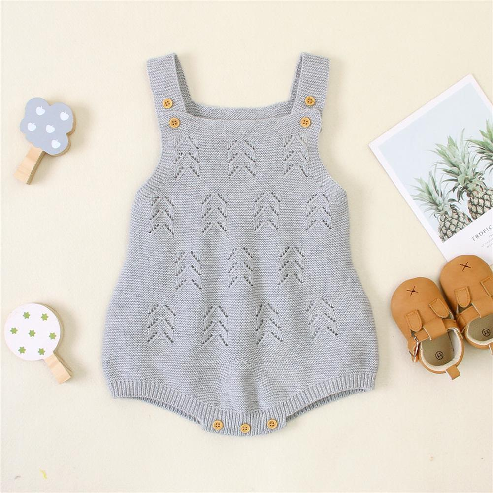 Baby Bodysuits Sleeveless Newborn Infant Boys Girls Jumpsuits Outfits Cute Solid Knitted Toddler Kids Body Suits Tops One Pieces